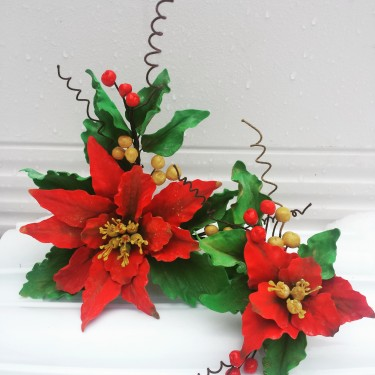 gum paste poinsettia